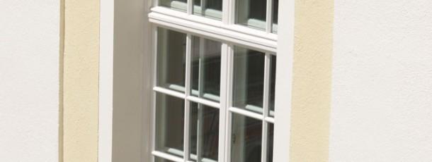 Eine Manufaktur-Kastenfenster Konstruktion für die Hopfenpost