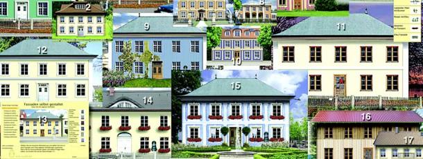 Fassadengenerator Collage der Möglichkeiten