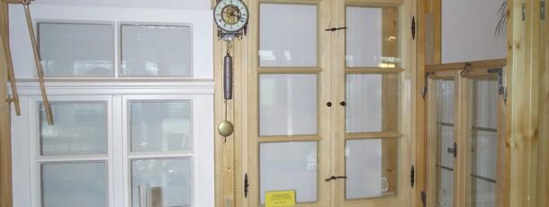 Manufakturfenstermodelle in der Ausstellung