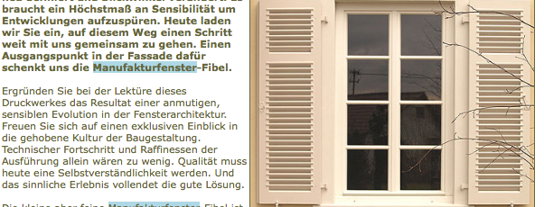Buchtip Manufakturfensterfibel 12.2005