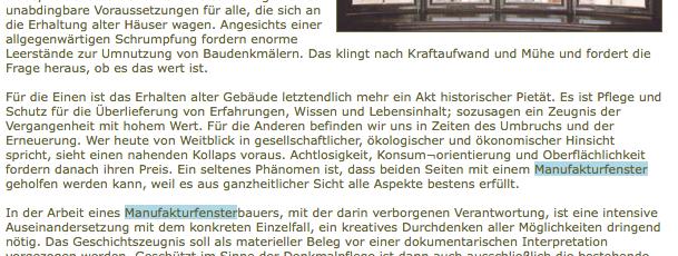 Ist Denkmalpflege ein notwendiges Übel 1.2006