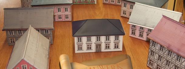 Papiermodellhäuser