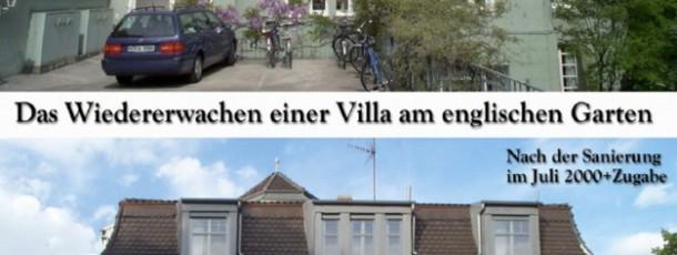 Villa engl.Garten vorh:nachh